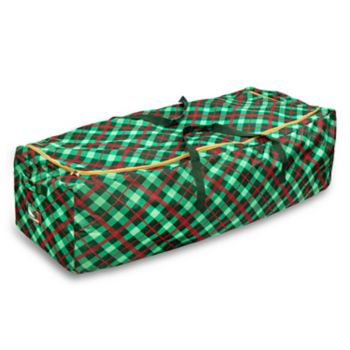Honey-Can-Do Plaid Rolling Tree Storage Bag