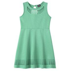 Girls 7-16 Lilt Laser Cut Skater Dress