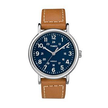 Timex Unisex Weekender Leather Watch - TW2R42500JT