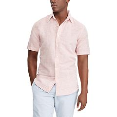 Big & Tall Chaps Classic-Fit Linen-Blend Button-Down Shirt