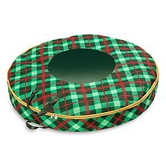 Honey-Can-Do Plaid 36-inch Wreath Storage Bag
