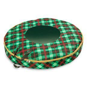 Honey-Can-Do Plaid 36-inch Wreath Storage Bag