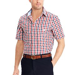 Big & Tall Chaps Classic-Fit Checked Easy-Care Woven Button-Down Shirt