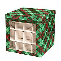 Honey-Can-Do Plaid Ornament Storage Cube