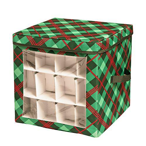 Honey-Can-Do Plaid Ornament Storage Cube