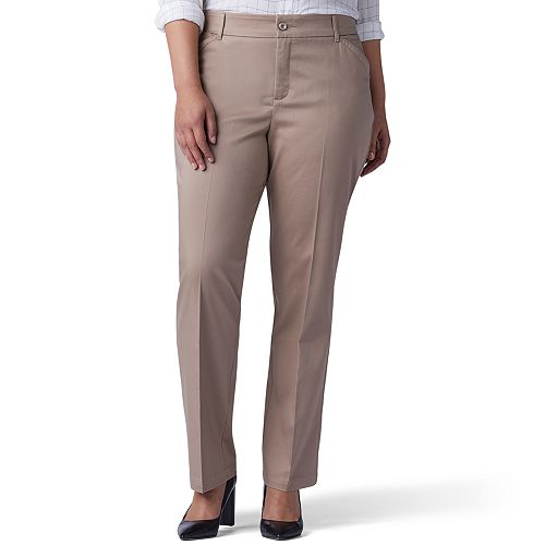 1970ceafaa61b Plus Size Lee Flex Motion Straight-Leg Pants