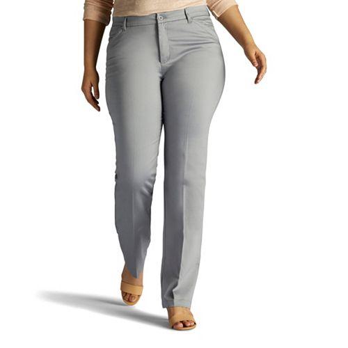 Plus Size Lee Flex Motion Straight-Leg Pants