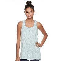 Juniors' SO® Mesh Back Space-Dyed Tank