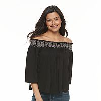 Women's Apt. 9® Smocked Off-the-Shoulder Top