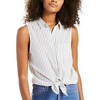 Women's Levi's Sleeveless Button-Down Top