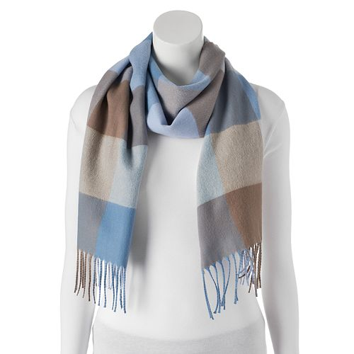 Softer Than Cashmere Colorblock Fringed Oblong Scarf