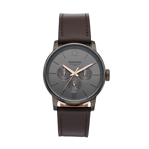 Armitron Men's Leather Watch - 20/5217DGDGBN