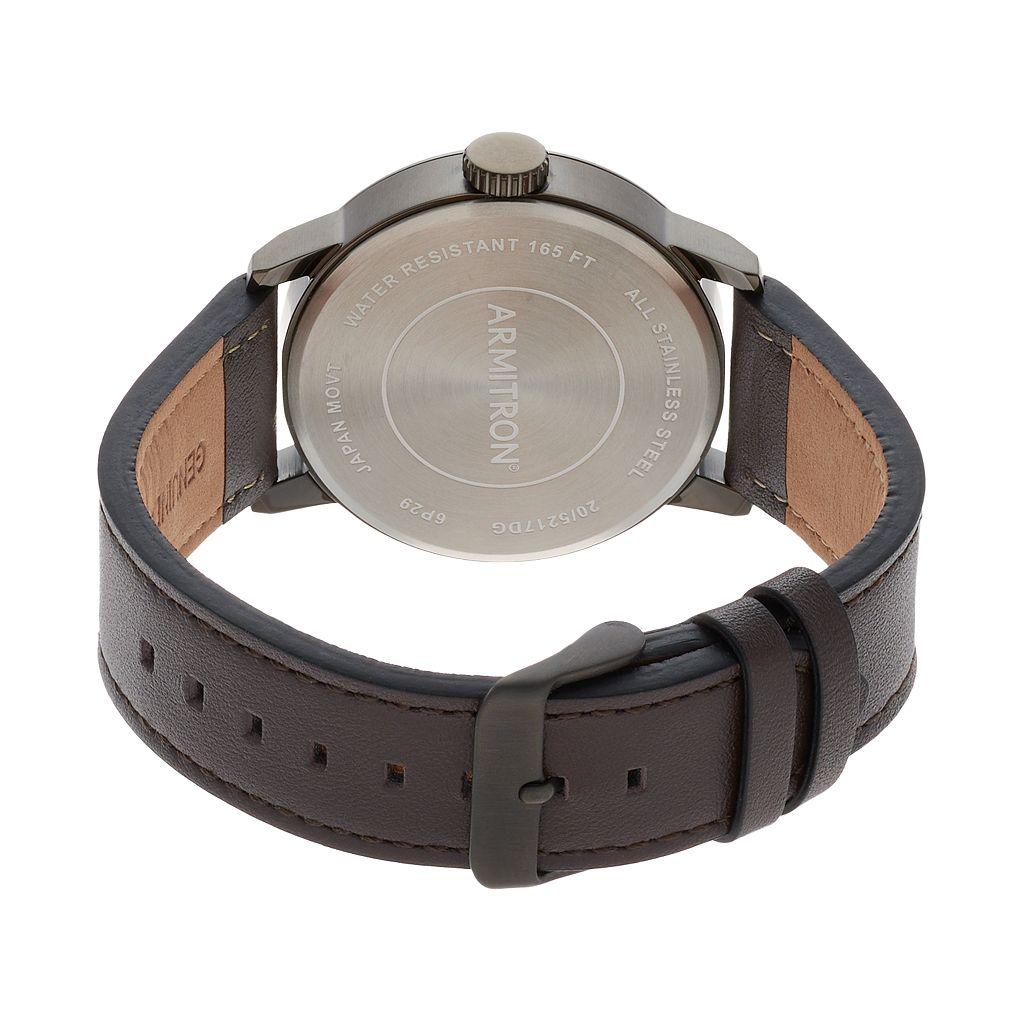 Armitron Men's Leather Watch - 20/5217DGDGBN