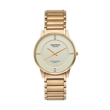 Armitron Men's Diamond Accent Stainless Steel Watch - 20/5246CHGP