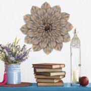 Stratton Home Decor Distressed Metal Flower Wall Decor
