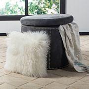 Safavieh Faux Fur Flokati Throw Pillow