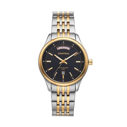 Armitron Men's Two Tone Stainless Steel Watch - 20/5255BKTT