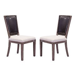 Zuo Modern Market Upholstered Dining Chair 2-piece Set