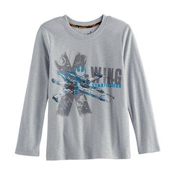 Boys 4-7x Star Wars a Collection for Kohl's Wing Starfighter Foiled Tee