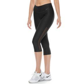 Women's Nike Power Training Mesh Inset Capri Leggings