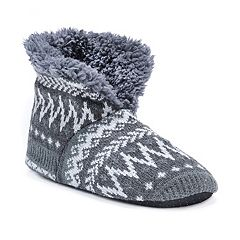 Men's MUK LUKS Knit Bootie Slippers