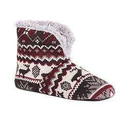 c1229c7a723 Men s MUK LUKS Knit Bootie Slippers