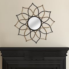 Stratton Home Decor Lotus Flower Mirror Wall Decor