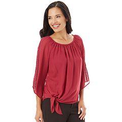Women's Apt. 9® Tie Front Textured Top