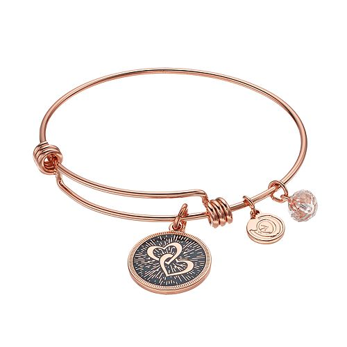 "love this life ""Mothers and Daughters"" Heart Charm Bangle Bracelet"