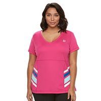 Plus Size FILA SPORT® Heritage Colorblock V-Neck Workout Tee