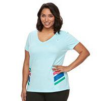 Plus Size FILA SPORT® Heritage Colorblock V-Neck Workout Tee