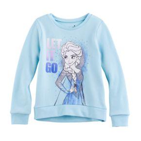 "Disney's Frozen Girls 4-10 Elsa ""Let It Go"" High-Low Fleece Pullover by Jumping Beans®"