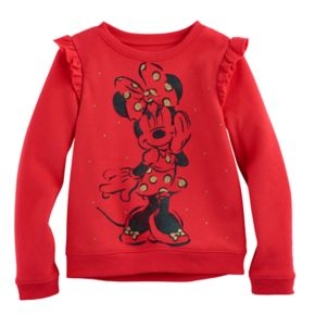 Disney's Minnie Mouse Girls 4-10 Ruffle High-Low Fleece Pullover by Jumping Beans®