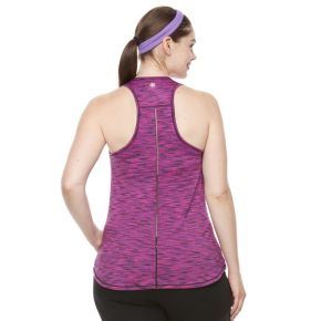 Plus Size Tek Gear® Spacedye Easy Racerback Tank