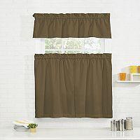Pairs To Go Cadenza Microfiber Kitchen Curtain Tier & Valance Set