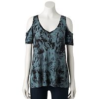 Women's Rock & Republic® Cold-Shoulder Tee