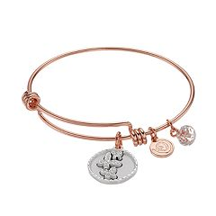 love this life Crystal 'Good Friends' Butterfly Charm Bangle Bracelet