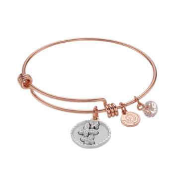 "love this life Crystal ""Good Friends"" Butterfly Charm Bangle Bracelet"