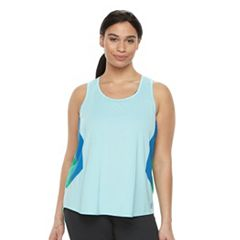 Plus Size FILA SPORT® Colorblock Tank