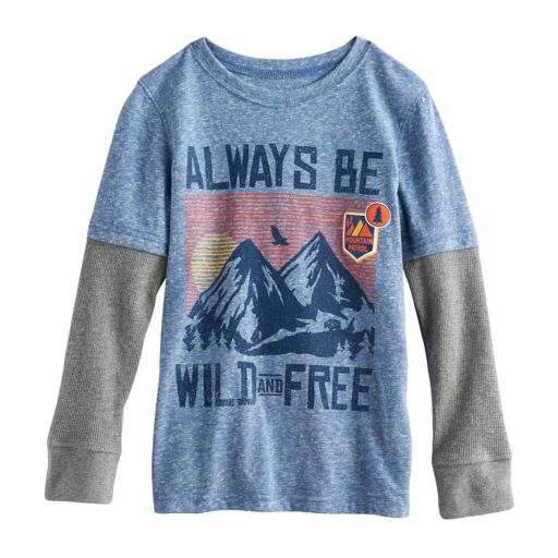 "Boys 4-10 Jumping Beans® ""Always Be Wild And Free"" Mountains Graphic Tee"