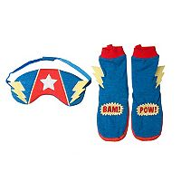 Boys 2-6 OshKosh B'gosh® Superpower Booties & Sleep Mask Set