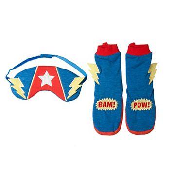 Boys 2-6 OshKosh B'gosh® Superpower Booties & Sleep Mask Set