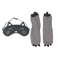 Girls 2-6 OshKosh B'gosh® Cat Socks & Sleep Mask Set
