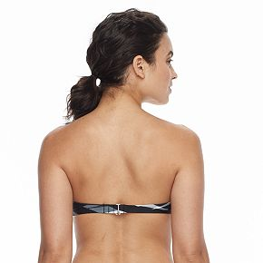 Women's adidas Abstract D-Cup Bandeau Bikini Top