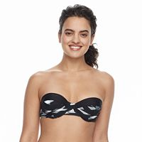 Women's adidas Abstract D-Cup Bandeau Bikini Top