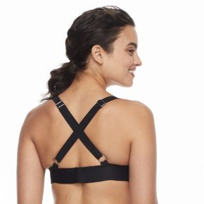 Women's adidas Striped D-Cup Bikini Top