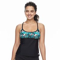 Women's adidas Painted Palms D-Cup Tankini Top
