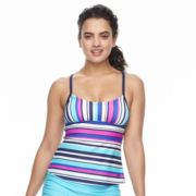 Women's adidas Easy Striped D-Cup Tankini Top