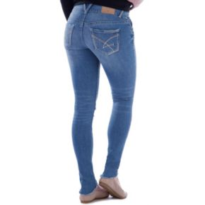 Juniors' Amethyst Destructed Skinny Jeans