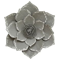 Stratton Home Decor Metal Lotus Flower Wall Decor